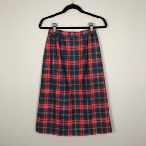 Vintage L.L. Bean Plaid Skirt